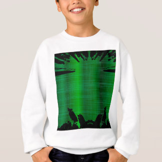 Green Splash Background Sweatshirt