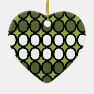 Green Splash of O's Christmas Ornament