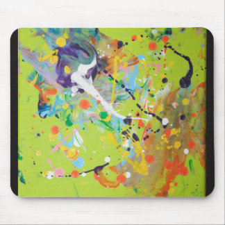 Green Splat Painting Mouse Mat