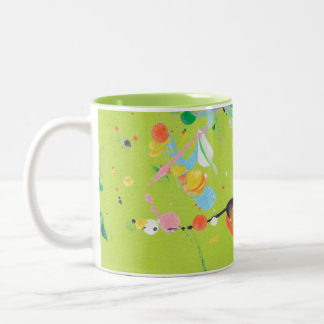 Green Splat Painting Mug