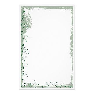 green splat stationery