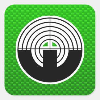 Green Sport Shooting Square Sticker