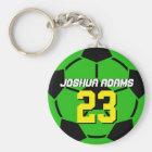 Green Sports Team Soccer Ball Keychain