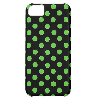 Green Spot Polka Dot iPhone 5C Cases