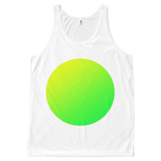 Green spot vest, add your own text.. All-Over print tank top