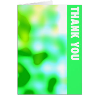 Green Spots Thank You Card