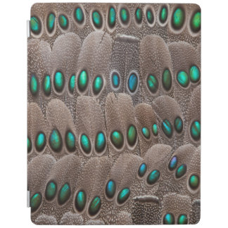 Green Spotted Pheasant Feathers iPad Cover