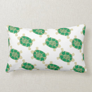 Green Spotted Turtle Pillow Throw Cushion