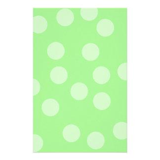 Green Spotty Pattern. Stationery