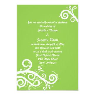 Green Spring 5x7 Paper Invitation Card