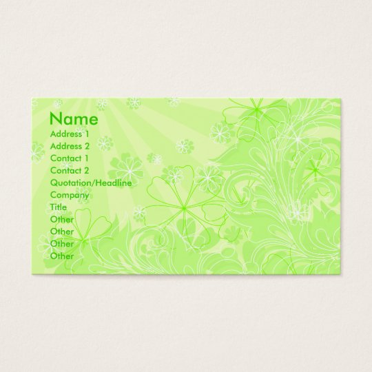 green spring_card business card