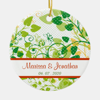 Green Spring Floral - thank you wedding ornament