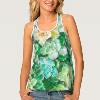 Green Spring Florals by Cindy Bendel Tank Top