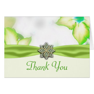 Green Spring Flowers Watercolor Wedding Card