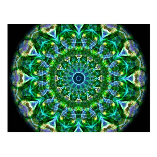 Green Spring Kaleidoscope Postcards
