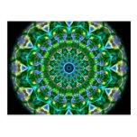 Green Spring Kaleidoscope Postcards