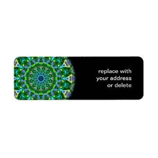 Green Spring Kaleidoscope Return Address Label