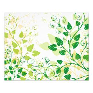 Green Spring Leafs 11.5 Cm X 14 Cm Flyer