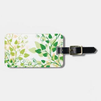 Green Spring Leafs Luggage Tag