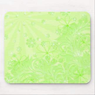 green spring mouse pad
