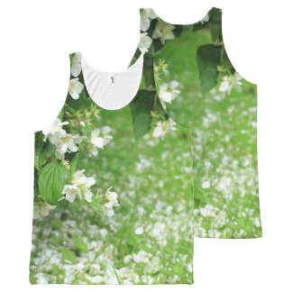 Green Spring, print all over All-Over Print Tank Top
