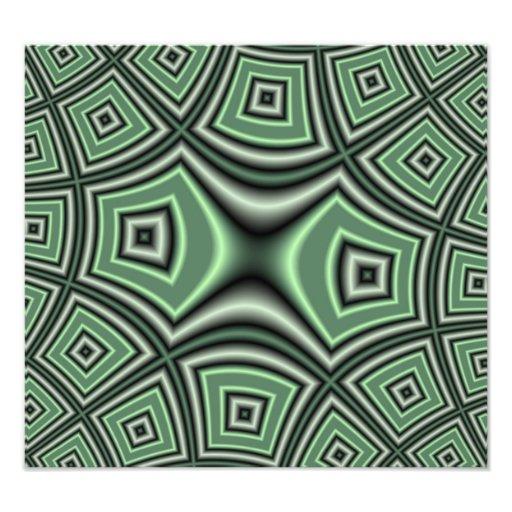Green square pattern photo art