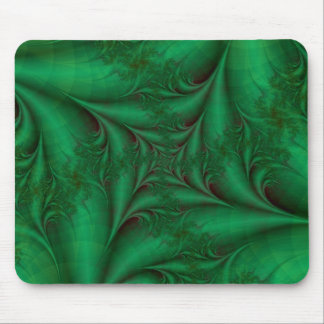 Green Square Spiral Mousepad