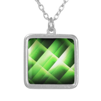 Green Squares Personalized Necklace