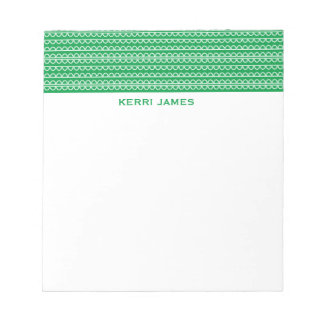 Green Squiggles Notepad