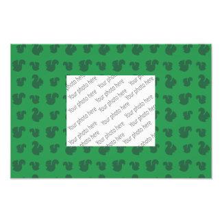Green squirrel pattern photo
