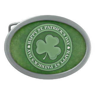 Green St. Patrick's Day Belt Buckle