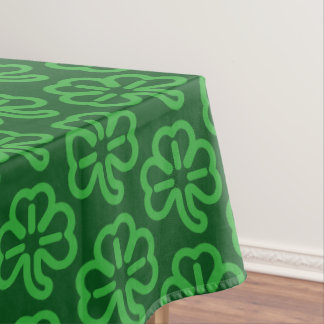 Green St Patricks Day Shamrock Clover Home Decor Tablecloth