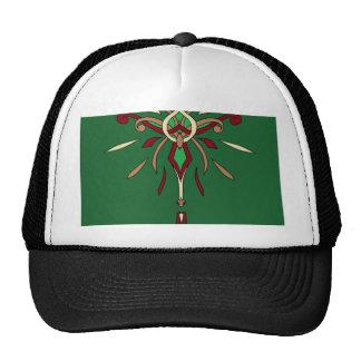 Green St Patricks Day Starburst Designer Cap