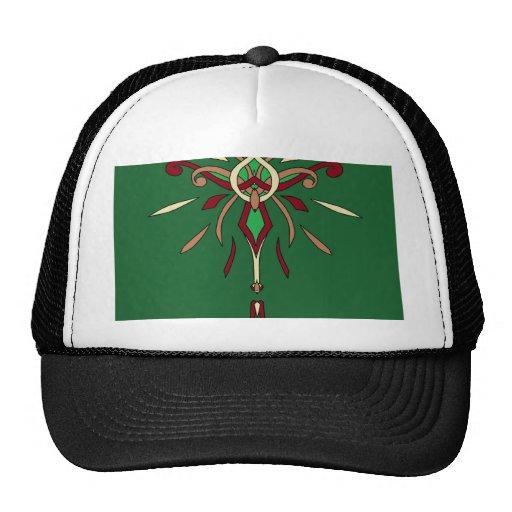 Green St Patricks Day Starburst Designer Trucker Hat