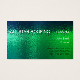 Green Stained Glass Business Card Template Generic