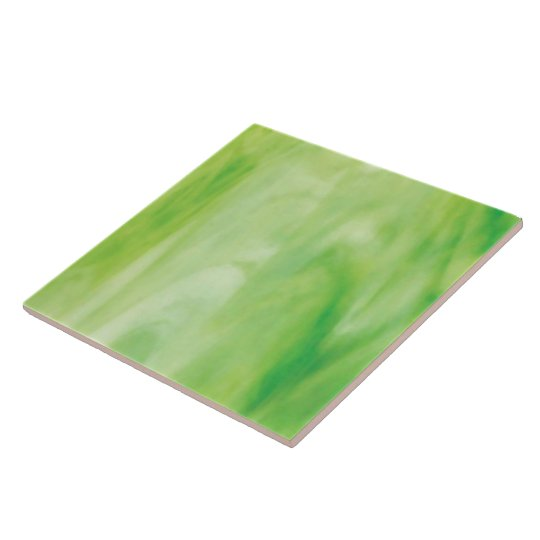 Green Stained Glass Large Square Tile