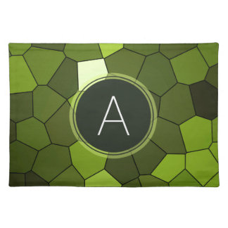 Green Stained Glass Mosaic Place Mats