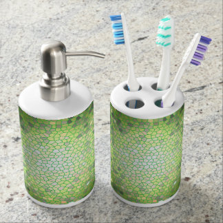 Green Stained Glass Mosaic Soap Dispenser