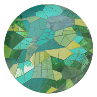 Green Stained Glass Plate
