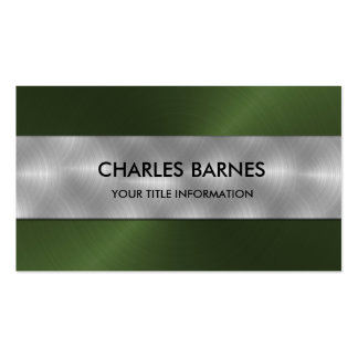 Green Stainless Steel Business Card