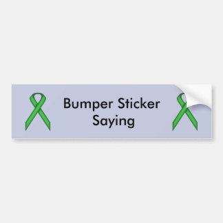 Green Standard Ribbon Bumper Sticker