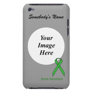 Green Standard Ribbon by Kenneth Yoncich iPod Case-Mate Case