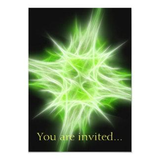 Green Star 1 13 Cm X 18 Cm Invitation Card