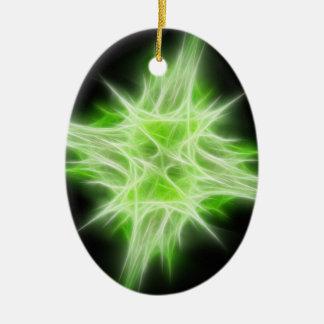 Green Star 1 Christmas Ornament