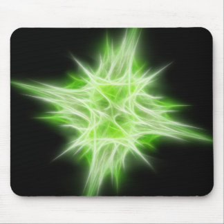 Green Star 1 Mouse Pad
