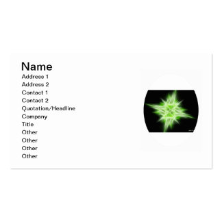 Green Star 1 Pack Of Standard Business Cards
