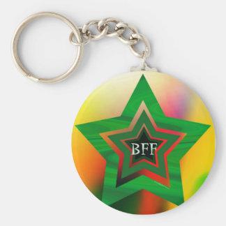 GREEN STAR  BFF KEY RING