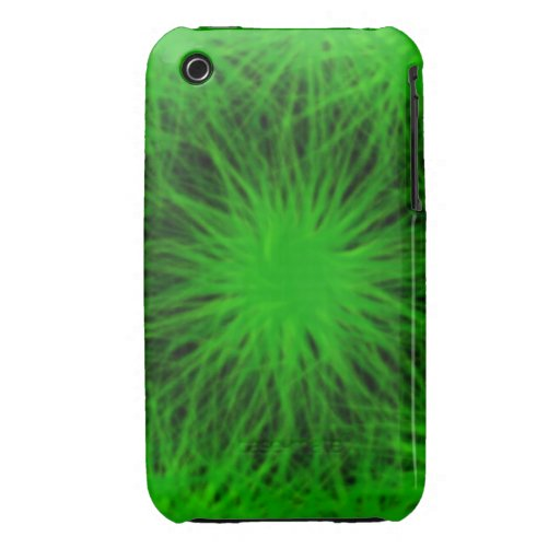 Green star burst  iPhone 4/4S Vibe Universal Case. Case-Mate iPhone 3 Case