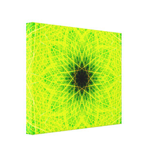 Green Star Canvas Print