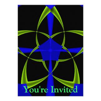 Green Star Fractal Custom Invites